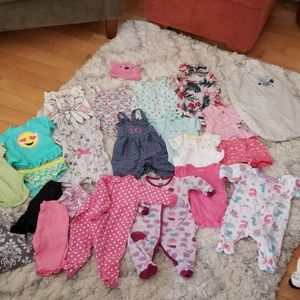 Newborn-3 month baby girl lot 22 items